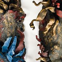 ceramic sculpture, art for the wall, handbuilt ceramics