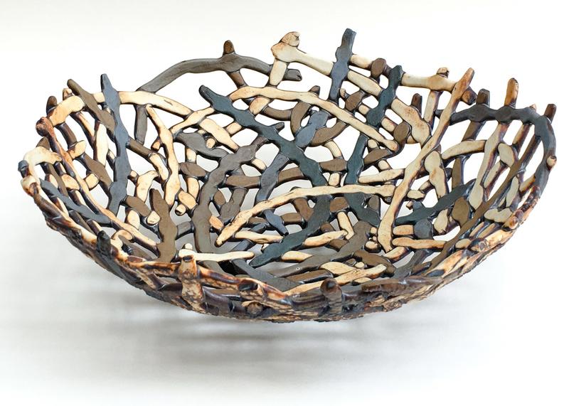 Porcelain basket by Carol Eddy