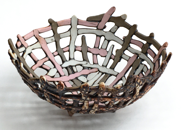 Porcelain basket by Carol Eddy